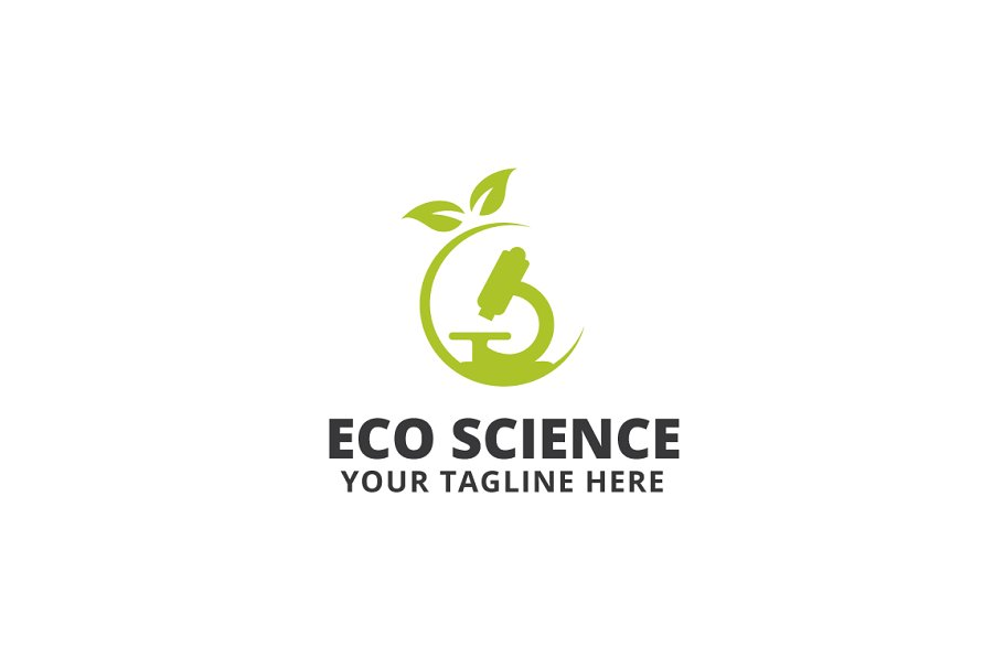 Eco Science Logo Template
