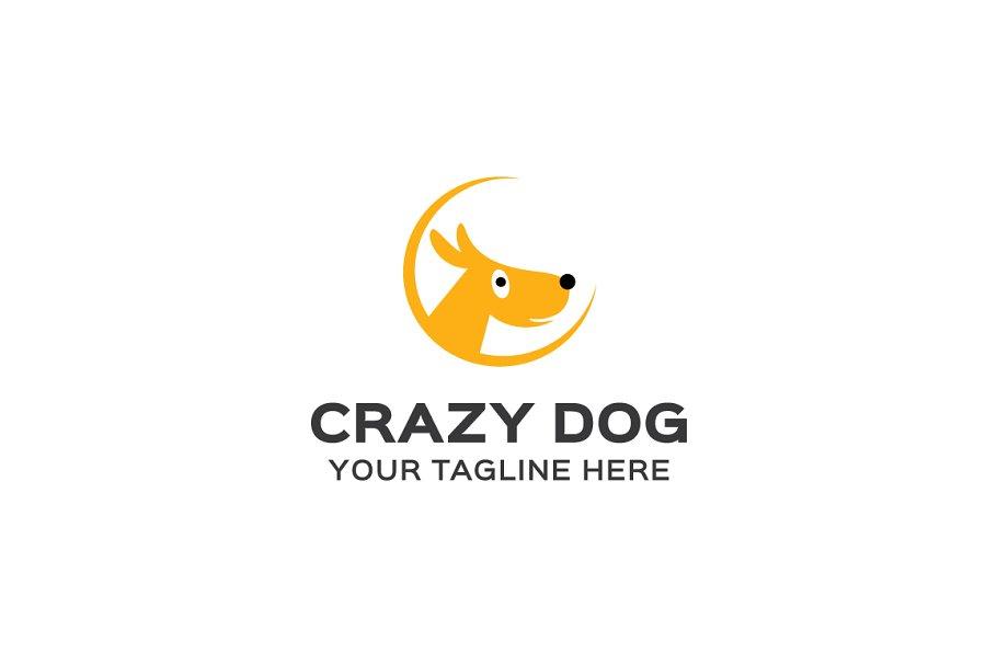 Crazy Dog Logo Template