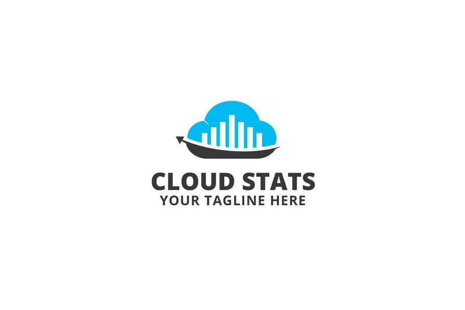 Cloud Stats Logo Template