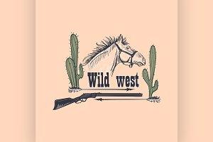 Wild west emblem