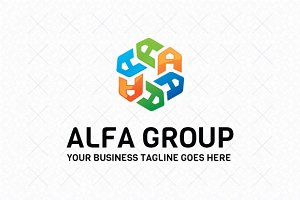 Alfa Group Logo Template