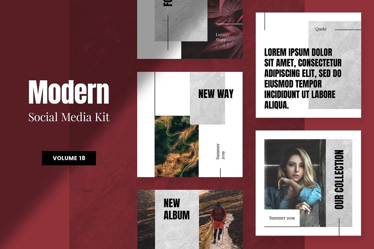 Modern Social Media Kit (Vol. 18)