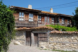 Typical house in town of Nessebar
