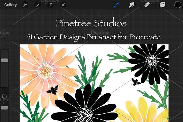 Procreate Garden Designs .brushset
