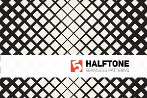 Five Halftone Seamless Patterns