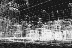 City buildings plans in 3D printing