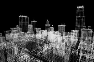 City buildings plans in 3D printing