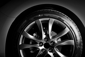 Aluminium rim of luxury car wheel
