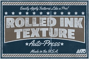 Rolled Ink Texture Auto-Press
