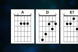 Guitar Chords (two versions)