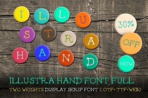 [30% off] Illustra Hand Font