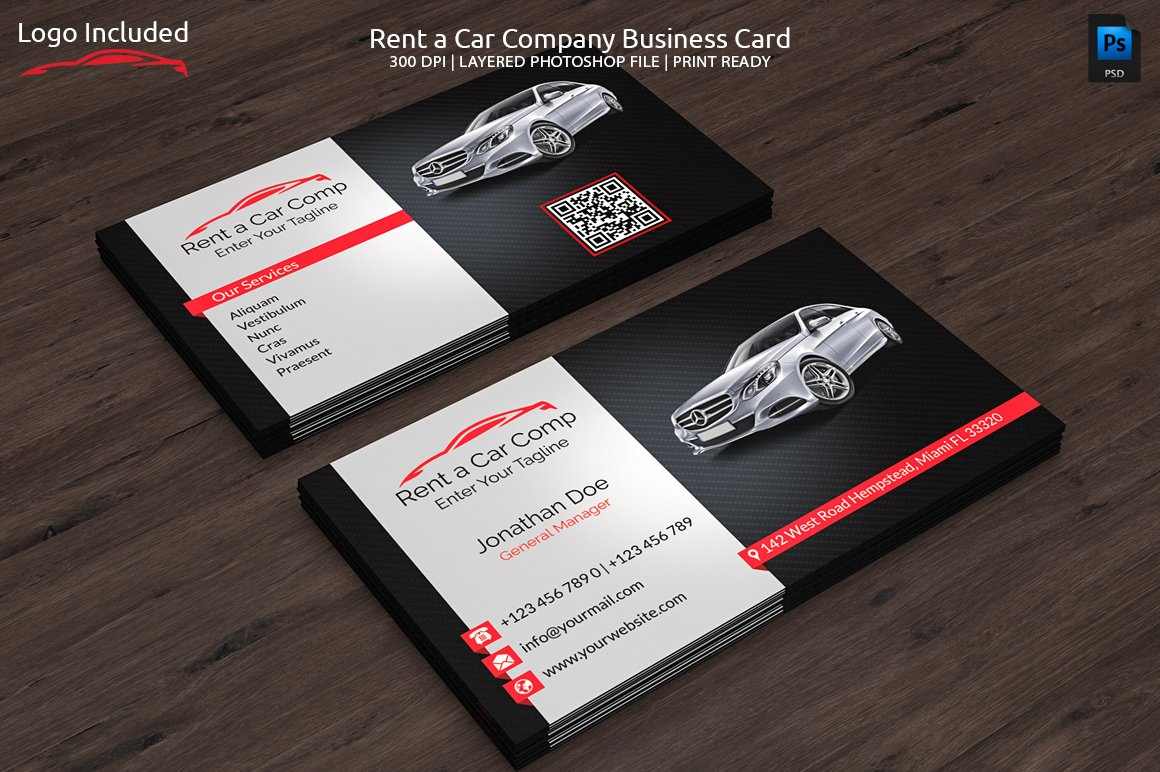 Rent a car business card business card templates creative market magicingreecefo Gallery