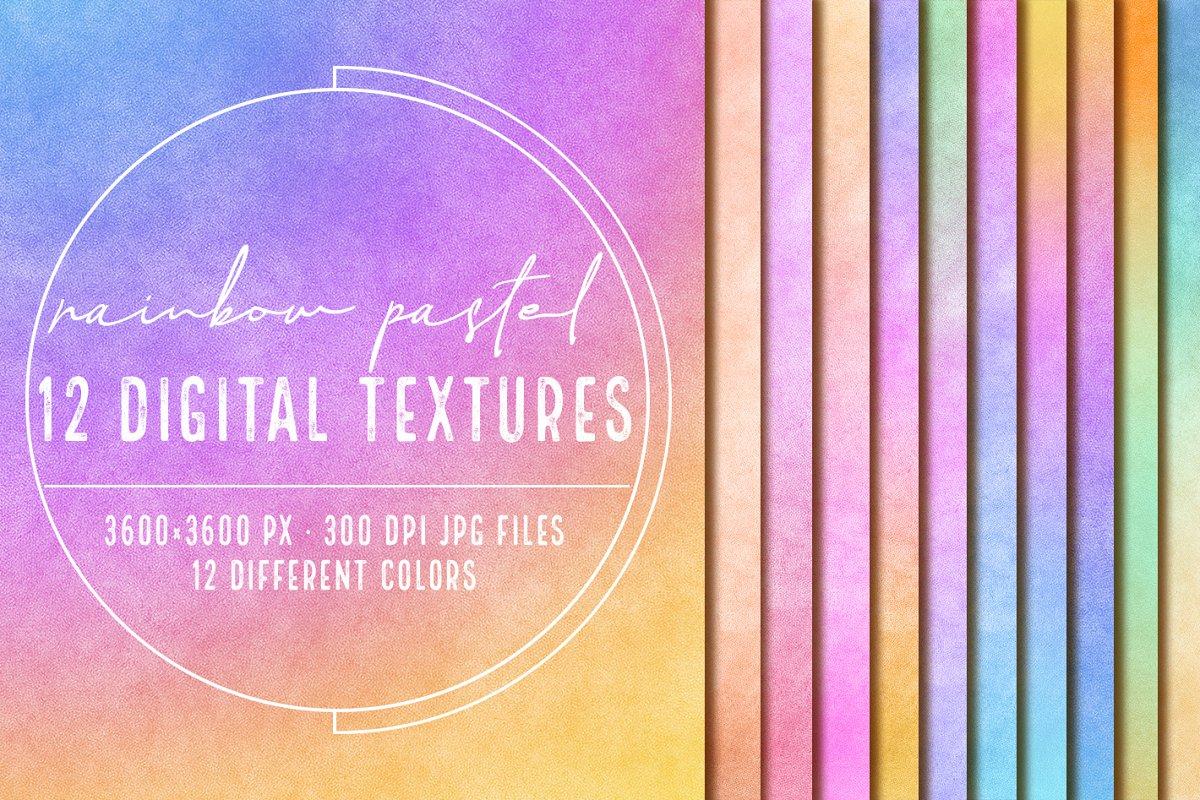 12 Rainbow pastel textures