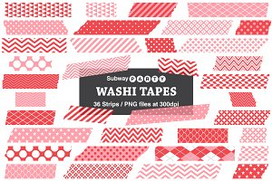 Pink & Red Washi Tape Strips