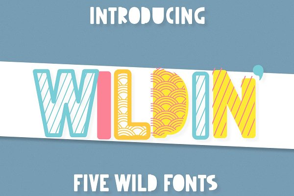 Wildin' - a Layered Font Family