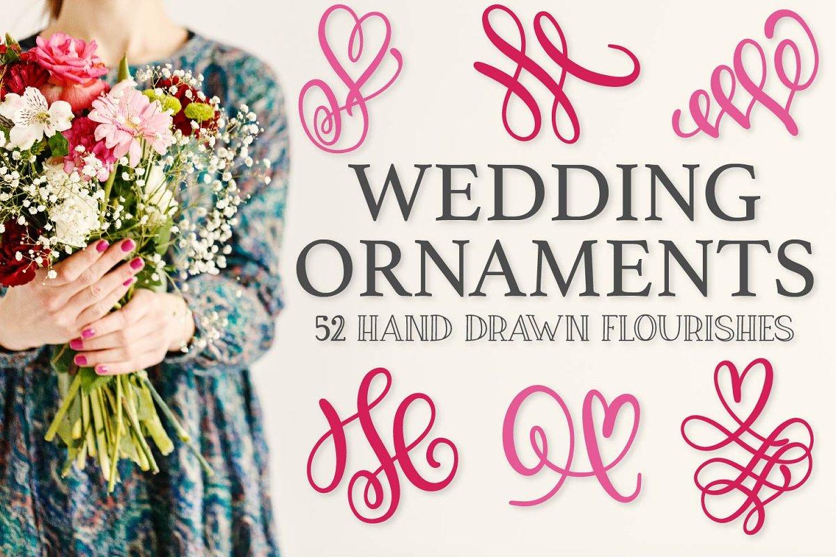 Wedding Ornaments - Doodle Font