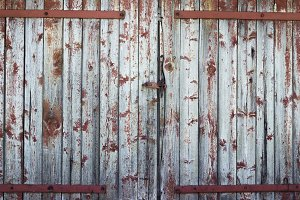 background old wooden barn door