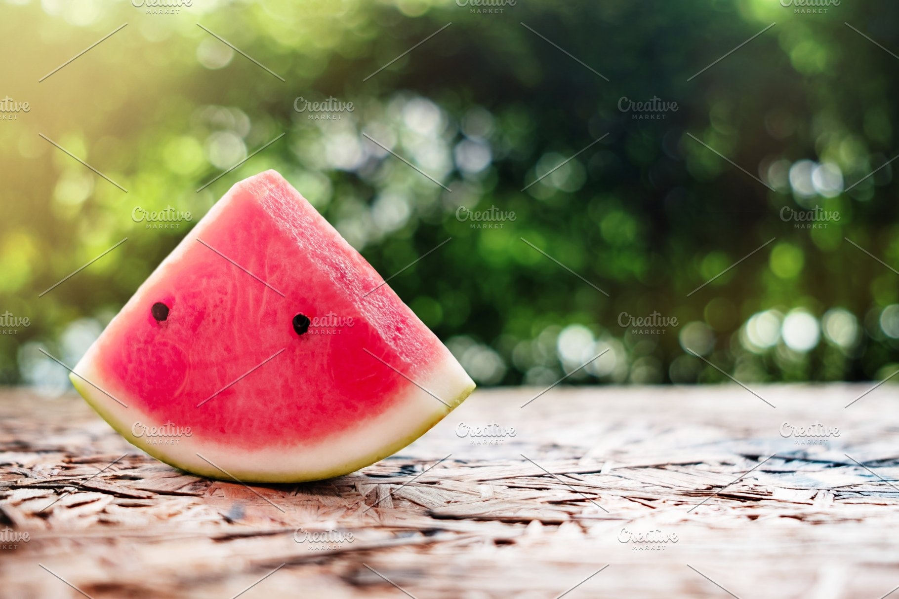 Watermelon Sliced On Wooden Table High Quality Food Images