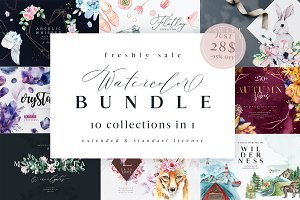 Watercolor Bundle -95% OFF