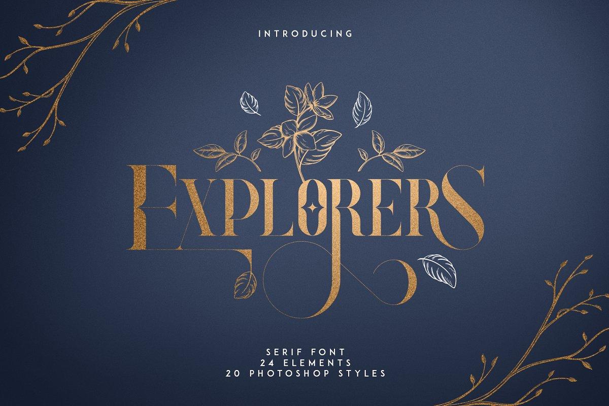 Explorers - Serif font + Extras ~ Serif Fonts ~ Creative Market