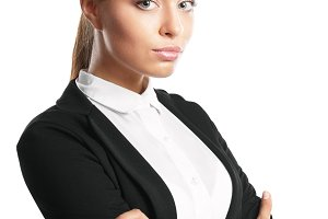Business woman, isolated