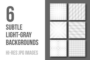 6 subtle light-gray backgrounds