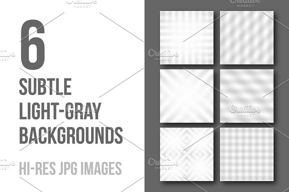 6 subtle light-gray backgrounds in Textures
