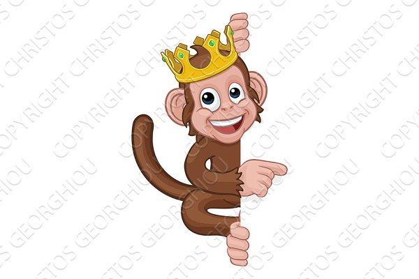 Monkey King Crown Cartoon Animal Pre Designed Photoshop Graphics Creative Market Funny king monkey with crown and stars. monkey king crown cartoon animal