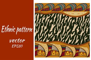 Ethnic seamless pattern with zebra