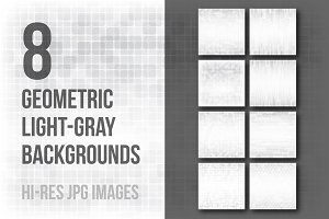 8 geometric light-gray patterns