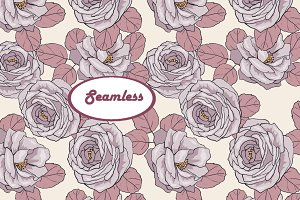 Roses 1. Vector seamless