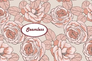 Roses 2. Vector seamless