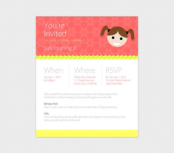 birthday evite template web only invitation templates creative