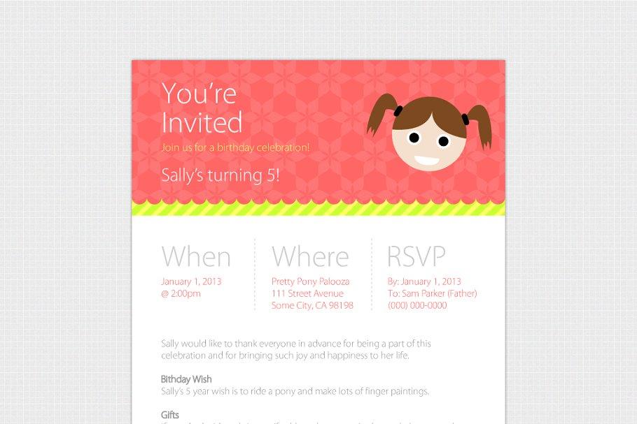 Birthday Evite Template Web Only Invitation Templates Creative