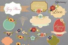 Floral Frames and Bouquets Vectors