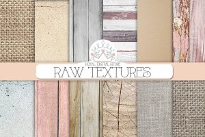RAW TEXTURES digital paper
