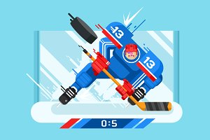 Hockey player character
