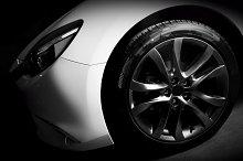 Luxury sports car close up