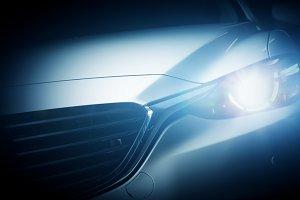 Modern luxury car close-up