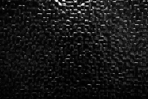 Black glossy tile wall background