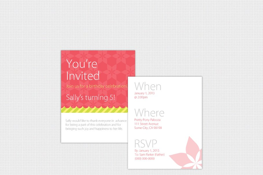 Birthday Invitation Template [Print] | Creative Invitation ...