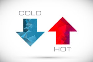 Hot and cold arrows