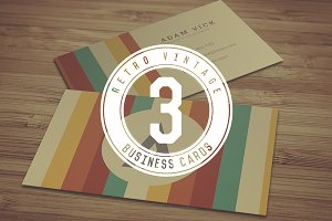 3 Retro Vintage Business Cards
