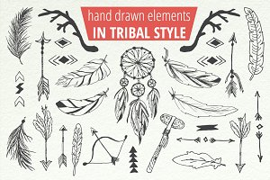 Handsketched Tribal Boho Set