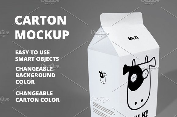 Free Carton Mockup