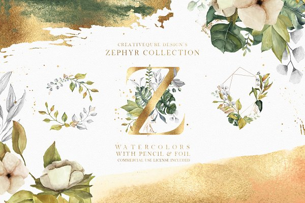 Graphics: Creativeqube Design - Zephyr Watercolor Collection