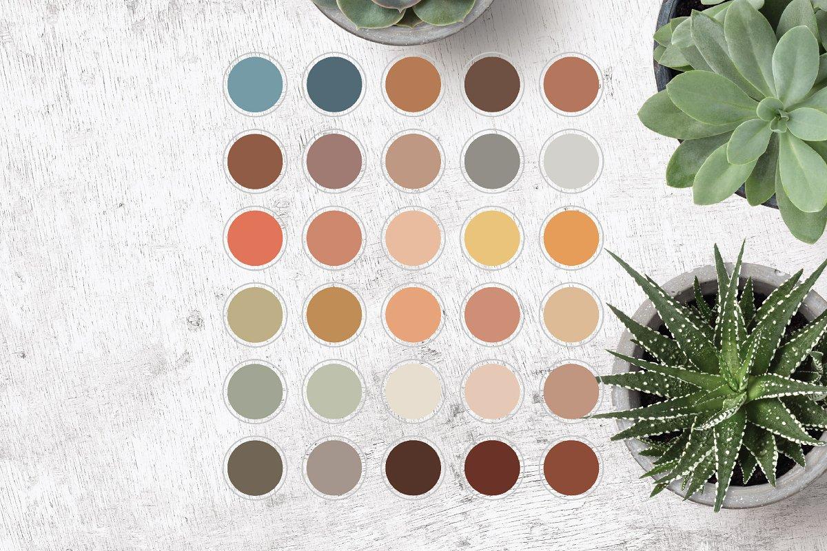 Color Palette Instagram Highlights Icons Creative Market