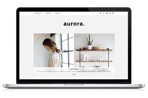 Responsive WP Theme - Aurora