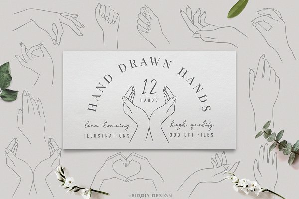 Graphics: BirDIY Design - Women's Hands Graphics Set