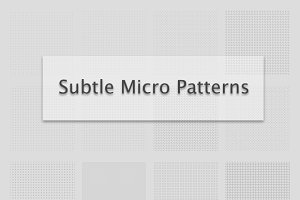 Subtle Micro Patterns